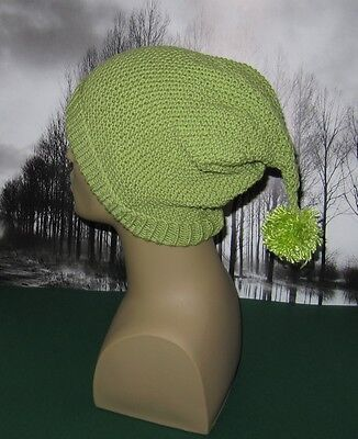 PRINTED KNITTING INSTRUCTIONS-BIG BOBBLE  TRAPPER SLOUCH HAT KNITTING PATTERN