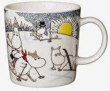 4-set Arabia Moomin minimugs 2014 Skiing with mr Brisk unopened box