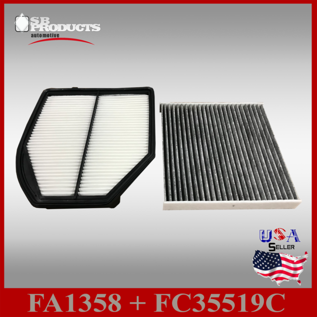 Auto1tech Engine And CARBON Cabin Air Filter For Acura
