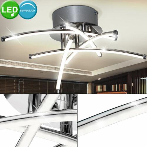 Luxus LED Decken Lampe Strahler schwenkbar Stäbe Beleuchtung Chrom Ess Zimmer
