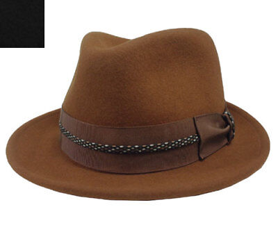Brand NWT Bailey of Hollywood Men/'s Bates Tobacco Fedora Hat 5923 M $150 *