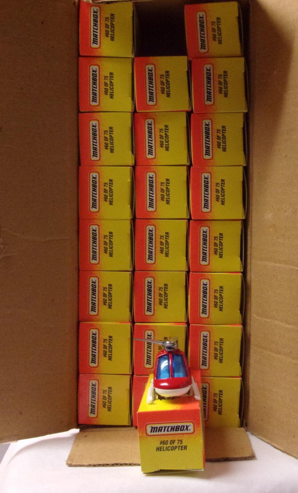 precios al por mayor Kkar Matchbox-amarillo Box-MB60 helicóptero-rojo helicóptero-rojo helicóptero-rojo y blancoo de fuego Dep. - Lote de caso  Ahorre hasta un 70% de descuento.