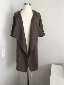 maglione vince poliammide lana Maglione in con taglia L di marrone frontale apertura 4x7zBaq