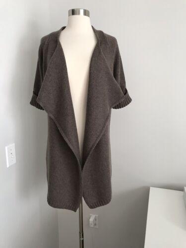 frontale apertura vince L taglia Maglione in di maglione lana marrone con poliammide Ygfw01q