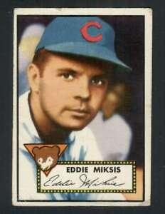 1952 Topps #172 Eddie Miksis GVG Cubs 126524