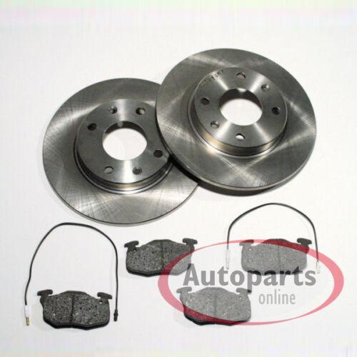 Bremsscheiben Bremsbeläge für die Vorderachse vorne Peugeot 205