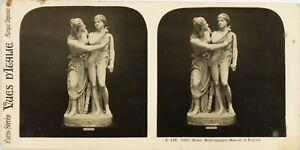 Italia Roma Boncompagni Amour E Psiche, Foto Stereo Vintage Analogica