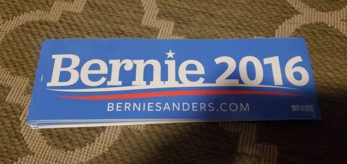 Lot of 5 AUTHENTIC OFFICIAL  2016 BERNIE SANDERS BUMPER STICKERS