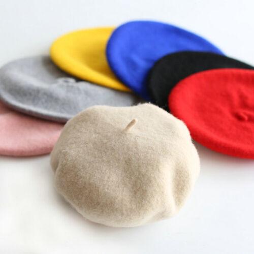 1 Pc Wolle Cute Beret Mädchen Retro Herbst Winter Baby Hut Maler Hut Haarschmuck