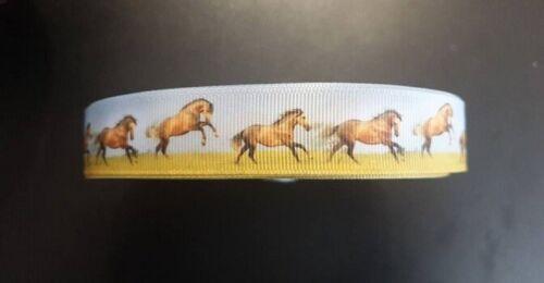 1203 chevaux sur prairie largeur 22 mm production propre côtelé WebBand Galon