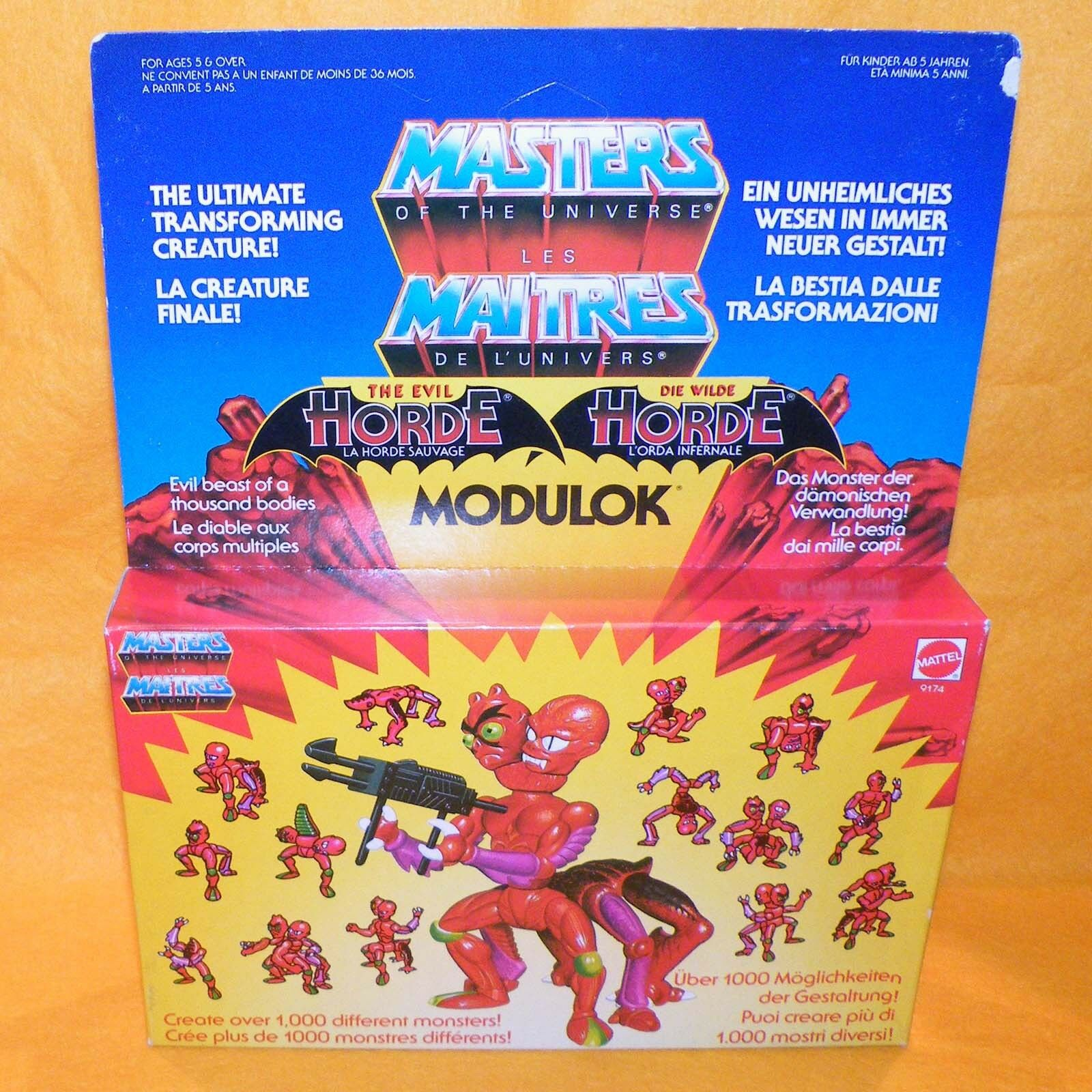 VINTAGE 1984 80s MATTEL MOTU HE-MAN MASTERS OF THE UNIVERSE MODULOK MISB BOXED
