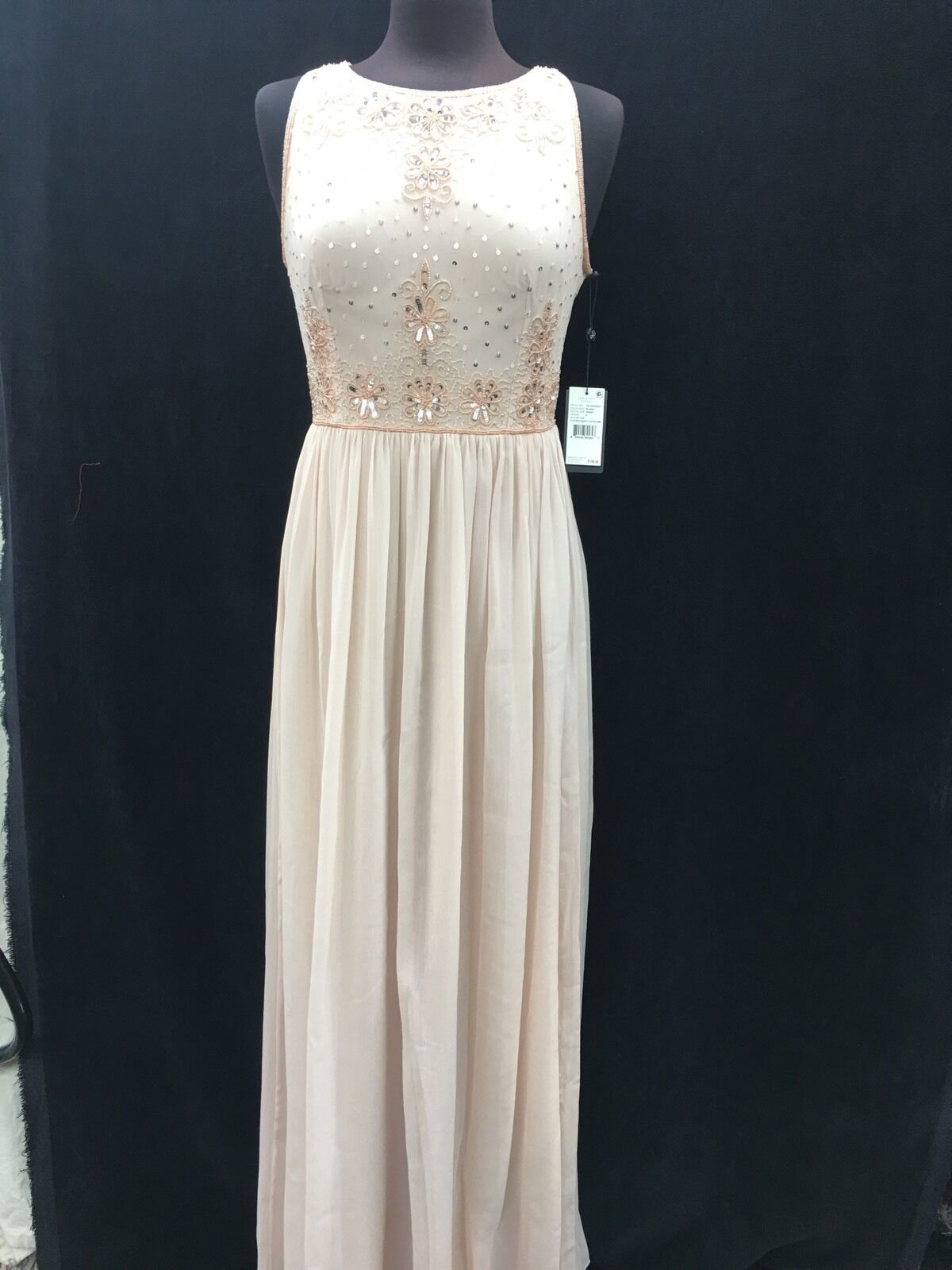 ADRIANNA PAPELL LONG GOWN NEW WITH TAG RETAIL blueSH SIZE 2