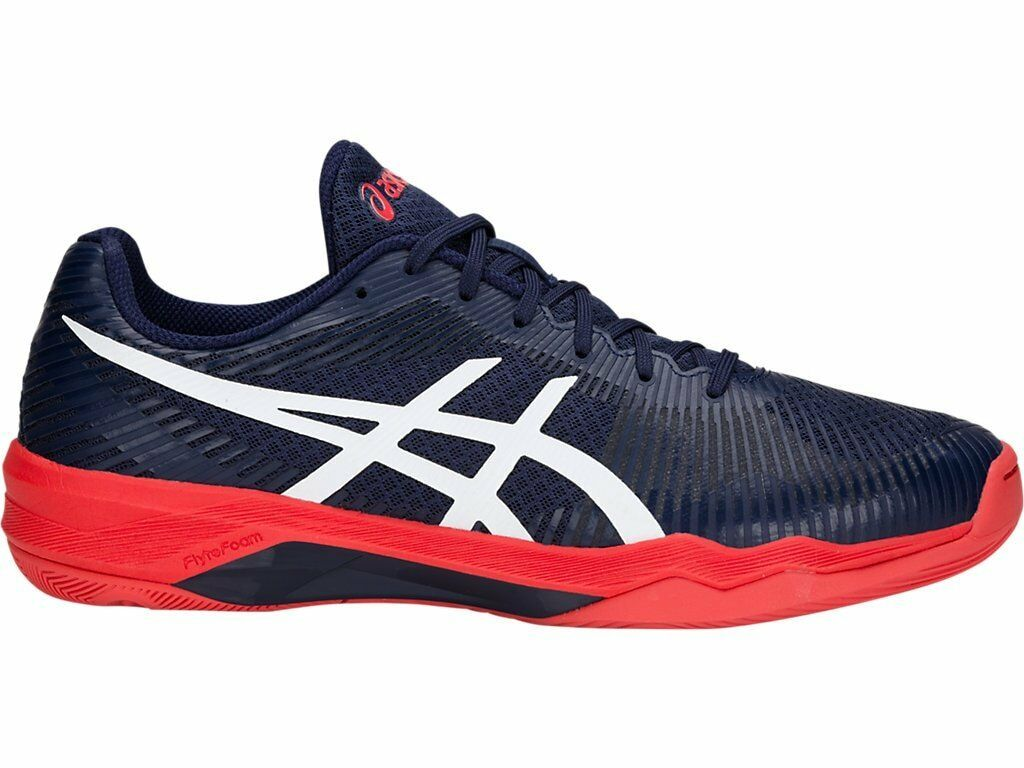 Asics Volley Elite FF Navy bluee White Red Men Volleyball shoes B701N-400