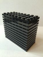 Lego Lot Of 12 Base Plates Black 4x8 Plate Brick Car Parts 4 X 8