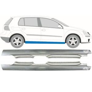 Volkswagen-Golf-5-Golf-V-2003-2009-5-Tuer-Voll-Schweller-Reparaturblech-Paar