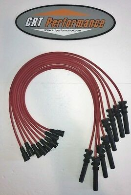 2003-2005 DODGE 5.7L HEMI RED 8MM SILICONE SPARK PLUG WIRE SET MADE IN USA