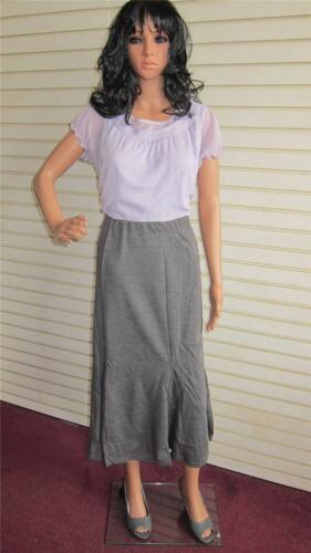 Ladies Casual Jersey Skirt Simply Be L 32 in Size 12 14 UK Grey Marl