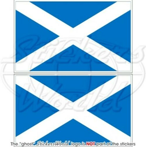 "Sticker Decal x2 SCOTLAND Scottish Flag UK Sky Blue 4/"" British 100mm"