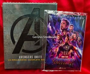 AVENGERS-1-4-Blu-ray-Box-Set-The-Complete-4-Movie-Marvel-End-Game-Art-Cards