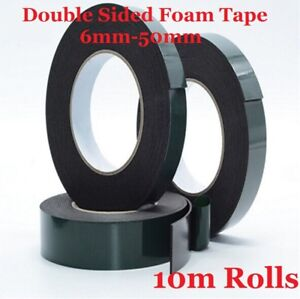 Black Double Sided Automotive Permanent Self Adhesive Foam