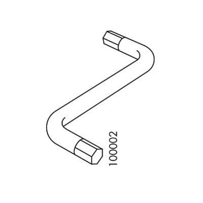 IKEA ASSEMBLY TOOL Spanner Open Closed Hexagon Shape PART # 130772