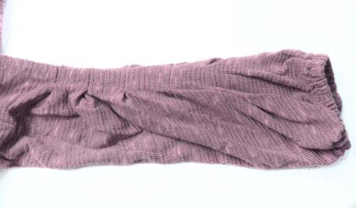 ZBA Long Sleeve Top Blouse Purple Embellished Scoopneck Zeeba Womens S Small New