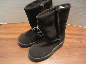 Toddler Little Girls Brown Suede Look Boots Size 2,CUTE!,WARM. | eBay