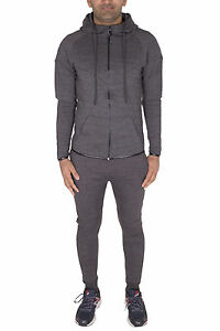 Homme Skinny Survêtement à Capuche Jogging Pantalon De Survêtement à Capuche Full Set Top Pantalon UK