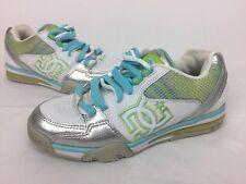 D.C. Skater Shoes (DCSHOECOUSA) White/Light Blue/Lime green Women's US 9