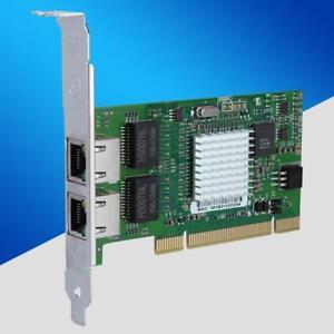 2Port PCI Gigabit Ethernet Network Card RJ45 1000Mbps for Intel 8492MT 82546EB