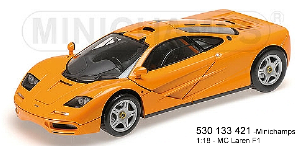 Minichamps 530133421  - MCLAREN F1 – ROAD CAR – 1993 – Orange L.E. 750 PS  | Ausgewählte Materialien