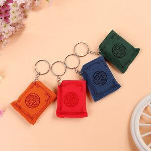 EE_ Mini Islamic Muslim Ark Quran Book Key Chain Ring Car Bag Pendant Charm Prop