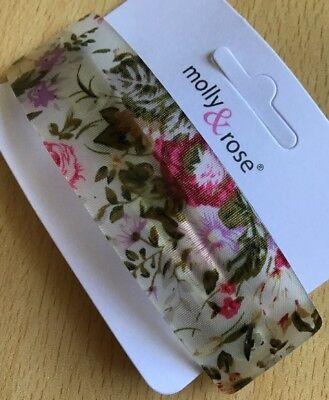 Una bella fibra Rosa Stampa Clip Capelli Barrette