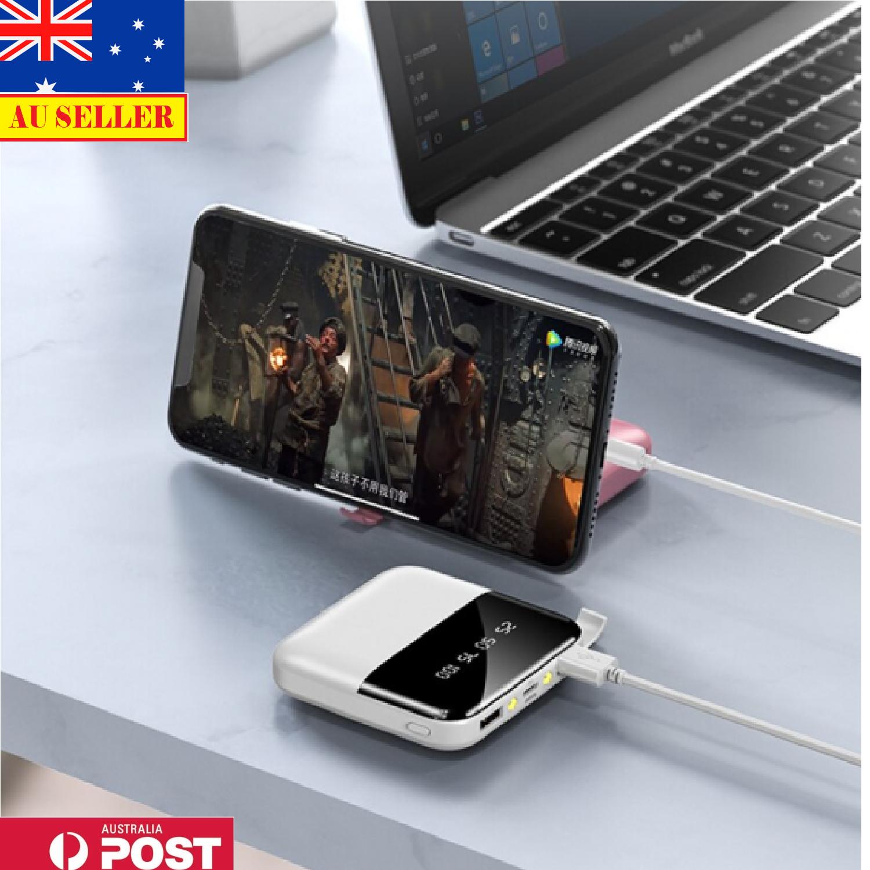 10000mAh Power Bank Micro Type C Portable Dual USB For Cell Phone Flashlight AUS