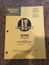Iampt Oliver Shop Manual Series Super 99gmtc 950 990 990 770 Amp 880