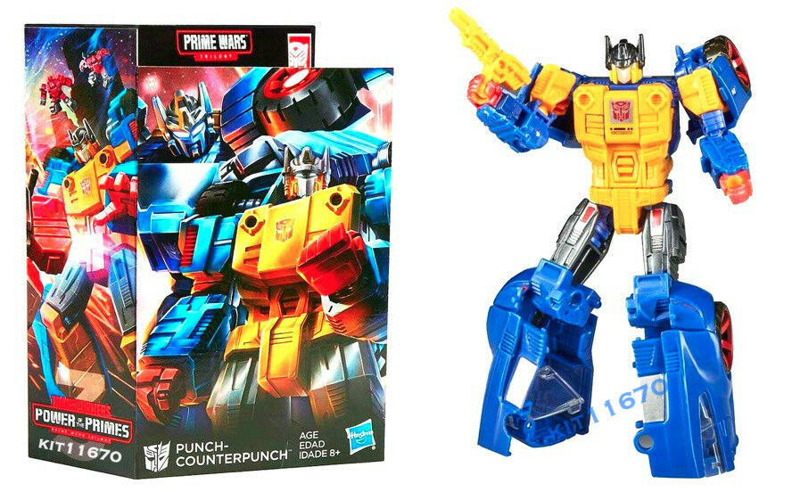 Transformers Generations Exclusive Prime Wars Punch-Counterpunch In Stock Ready
