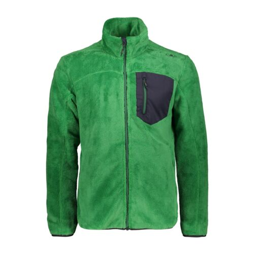 CMP Fleece Jacket Man Jacket Green breathable warmth Plain All