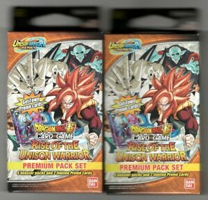Dragon Ball Super Premium Pack: Rise of The Unison Warrior - Lot of 2 Sealed