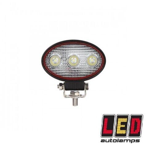 LED Autolamps 9W Compact Oval Flood Work Lamp Red Line Range 12//24v RL9809BM