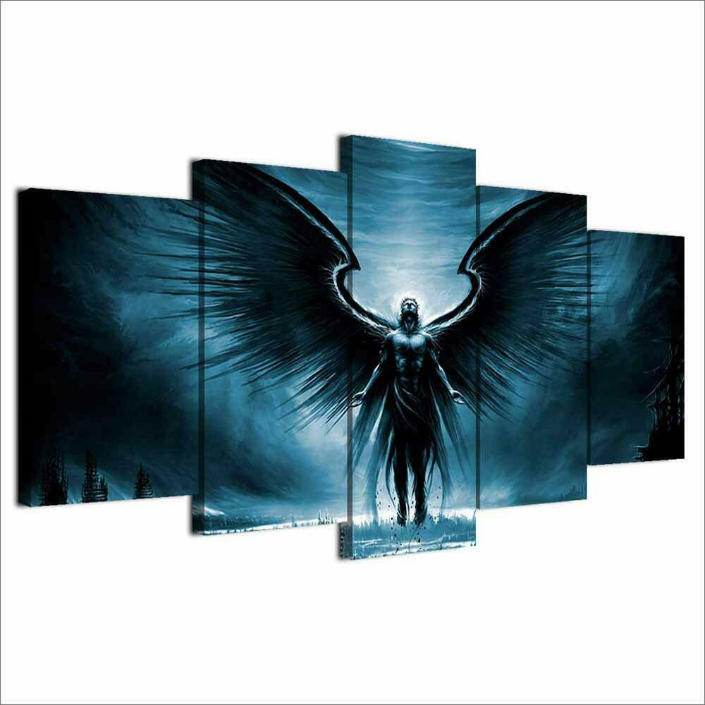 Art HD Print Home Décor Dark Angel Modern Paintings Wall Poster Picture