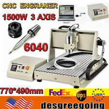 1500w Usb 3 Axis 6040 Cnc Router Engraving Machine Cutting Mill Drill Machine