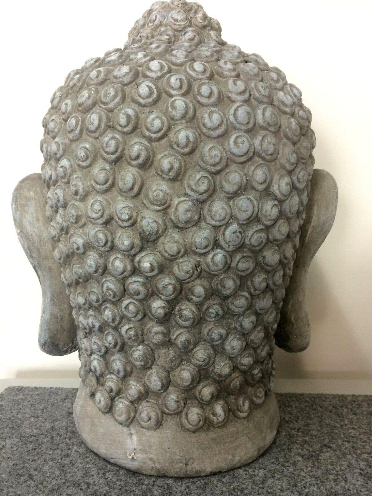 XXL Buddha Kopf grau Deko feng shui shui shui Luxus 48 cm Buddhakopf Geschenk 2. Wahl 5ca405