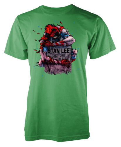 Spiderman Hugging Stan Lee Memorial Gravestone 1922.-2018 Kids T Shirt