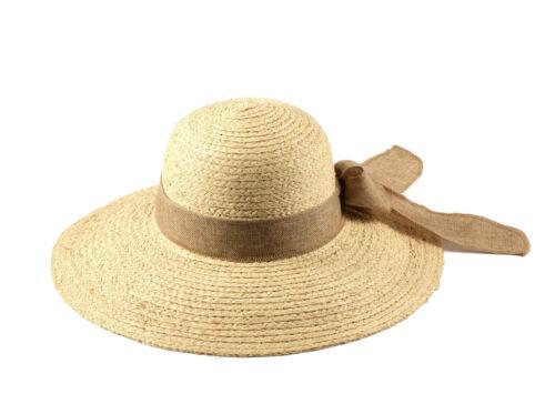 Miuno ® raffia femmes chapeau de paille boucle été chapeau de paille raffia h51033