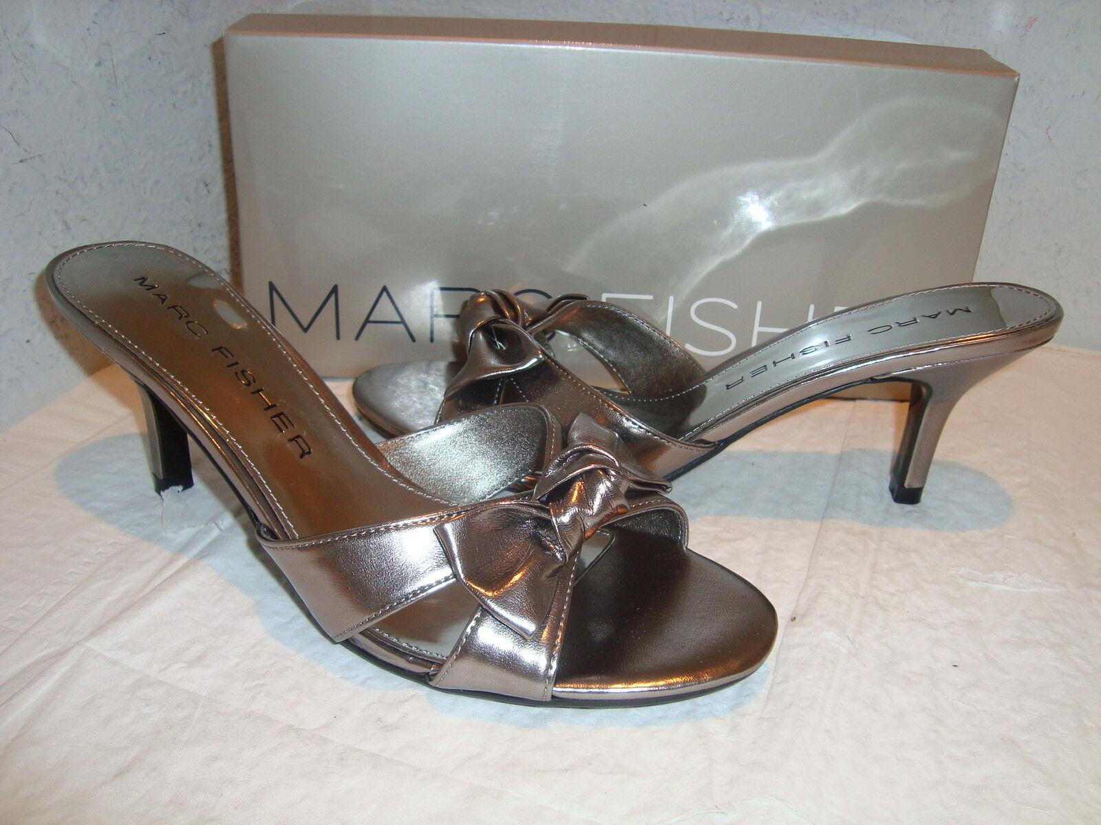 NEU Marc Fisher Damenschuhe Alven Pewter Synthetic Sandales 8 Medium
