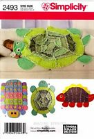 Simplicity Sewing Pattern 2493 Rag Quilts Dinosaur Turtle Caterpillar Quilting