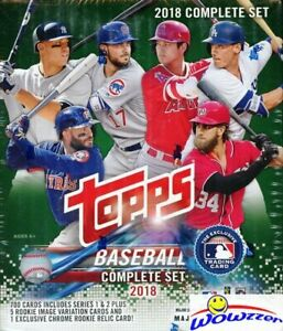 2018-Topps-Baseball-708-Cards-Retail-Factory-Set-Acuna-Torres-CHROME-RC-RELIC