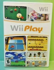 Wii-Play-Nintendo-Wii-Game-Complete-1-Owner-Mint-Disc-1-4-players-Billards-Fish