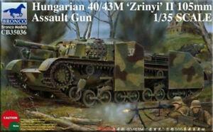 Bronco-1-35-35036-Hungarian-40-43M-039-Zrinyi-039-II-105mm-Assault-Gun-Hot