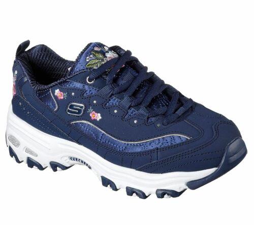 Skechers Sport Womens D/'LITES BRIGHT BLOSSOMS Sneakers Damen Schuhe Blau